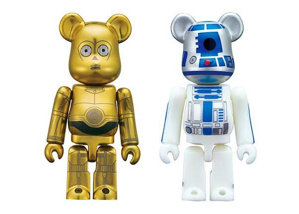 Bearbricks C3PO & R2D2 vinyltoys
