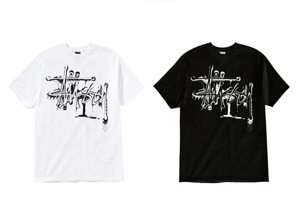 Illustrative work for Stussy clothing