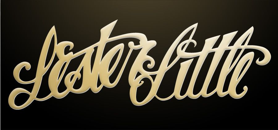 Lettering example illustration self study 1