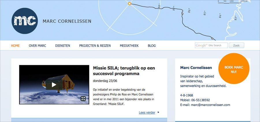Marc Cornelissen website impression 1